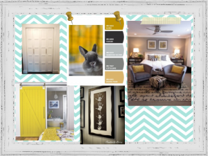 inspiration board-our room