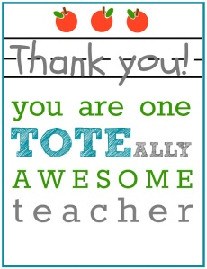 TOTEally Awesome Teacher Tag
