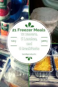 21 freezer meals